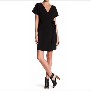 Bobeau Crepe Wrap Dress Nordstrom Black Large